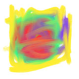 Abstract colorful Oil Paint Mark Royalty Free Stock Photo