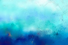 Abstract colorful oil painting on canvas texture Stock Image