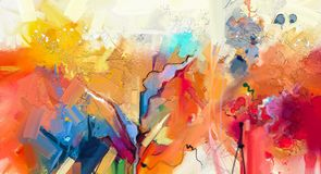 Abstract colorful oil painting on canvas texture vector illustration