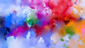 Abstract colorful oil painting on canvas texture. Stock Image
