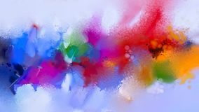 Abstract colorful oil painting on canvas texture. Stock Photography