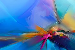 Abstract colorful oil painting on canvas Stock Image