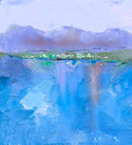 Abstract colorful oil painting landscape Royalty Free Stock Image