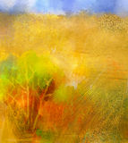 Abstract colorful oil painting landscape Royalty Free Stock Photos