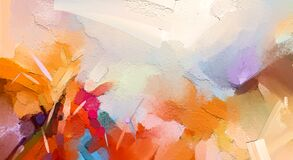 Free Abstract Colorful Oil Painting On Canvas Texture. Hand Drawn Brush Stroke, Oil Color Paintings Background Stock Image - 176537711