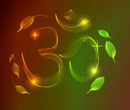 Abstract colorful OM sign over dark background Royalty Free Stock Photography