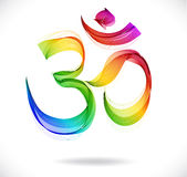 Abstract colorful OM sign over white royalty free illustration
