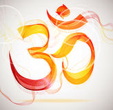 Abstract colorful OM sign Stock Images