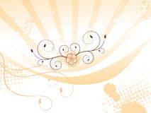 Abstract colorful orange floral background. With grunge vector illustration Stock Photo