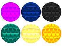 Abstract Colorful Orbs. That can be used as web buttons Royalty Free Stock Photos