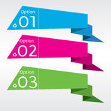 Abstract Colorful Origami Banner. Royalty Free Stock Images