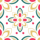 Abstract colorful ornament. Template for carpet, cover, textile, linen,  tile, wallpaper and any surface. Seamless  pattern Stock Illustration