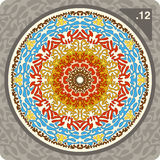 Abstract colorful ornament. Vector. Abstract vector illustration depicting colorful floral ornament Royalty Free Stock Photos