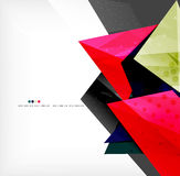Abstract colorful overlapping composition. Abstract colorful overlapping shapes 3d composition Stock Images