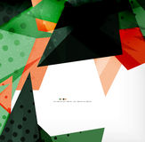 Abstract colorful overlapping composition Stock Images