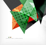 Abstract colorful overlapping composition Royalty Free Stock Images