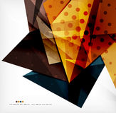 Abstract colorful overlapping composition. Abstract colorful overlapping shapes 3d composition Royalty Free Stock Image