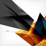 Abstract colorful overlapping composition Stock Photo