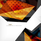Abstract colorful overlapping composition Stock Photography