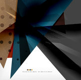 Abstract colorful overlapping composition Stock Image