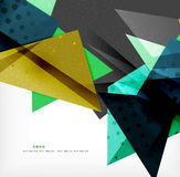 Abstract colorful overlapping composition. Abstract colorful overlapping shapes 3d composition Stock Photography