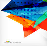 Abstract colorful overlapping composition. Abstract colorful overlapping shapes 3d composition Royalty Free Stock Photography