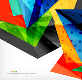 Abstract colorful overlapping composition. Abstract colorful overlapping shapes 3d composition Stock Photos