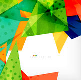 Abstract colorful overlapping composition. Abstract colorful overlapping shapes 3d composition Stock Photo