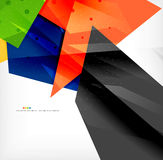 Abstract colorful overlapping composition Stock Photos