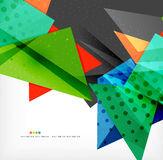 Abstract colorful overlapping composition. Abstract colorful overlapping shapes 3d composition Royalty Free Stock Photos