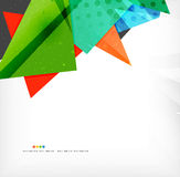 Abstract colorful overlapping composition. Abstract colorful overlapping shapes 3d composition Royalty Free Stock Images