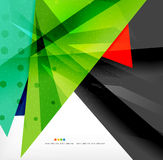 Abstract colorful overlapping composition. Abstract colorful overlapping shapes 3d composition Stock Image