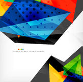Abstract colorful overlapping composition. Abstract colorful overlapping shapes 3d composition Royalty Free Stock Photo