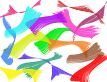 Abstract colorful paint brush strokes background Royalty Free Stock Photography