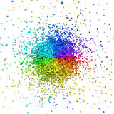 Abstract colorful paint burst. On white background. 3D rendering Royalty Free Stock Images