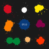Abstract colorful paint drops. Blot vector illustration. Spot vector silhouette. Design element Stock Photography