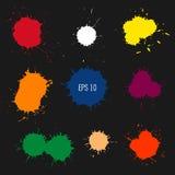 Abstract colorful paint drops. Blot vector illustration. Spot vector silhouette. Design element vector illustration