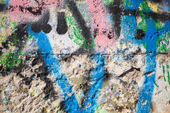 Abstract colorful paint graffiti fragment Royalty Free Stock Photos
