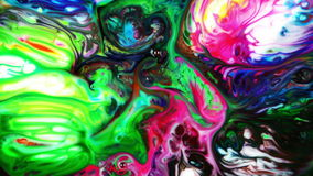 Abstract Colorful Paint Ink Liquid Explode Diffusion Pshychedelic Blast Movement. Video stock footage