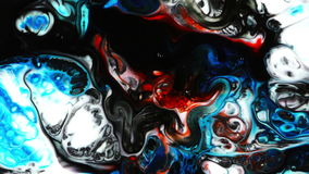 Abstract Colorful Paint Ink Liquid Explode Diffusion Pshychedelic Blast Movement stock footage