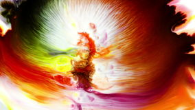 Abstract Colorful Paint Ink Liquid Explode Diffusion Psychedelic Blast Movement stock footage