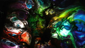 Abstract Colorful Paint Ink Liquid Explode Diffusion Psychedelic Blast Movement stock video footage