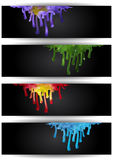 Abstract colorful paint runs Royalty Free Stock Photos