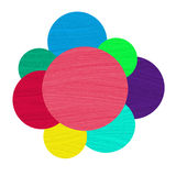 Abstract colorful painted circles Royalty Free Stock Photo