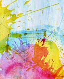 Abstract colorful painted watercolor splash and Stock Photos