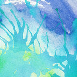Abstract colorful painted watercolor splash and Royalty Free Stock Photography