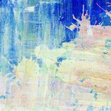 Abstract colorful painted watercolor splash and Royalty Free Stock Photo