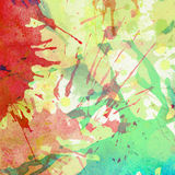 Abstract colorful painted watercolor splash and. Abstract colorful painted watercolor splash, stain background with space for text Stock Photo