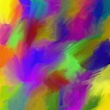 Abstract colorful painting. With acrylic paint in spectrum colors Stock Photography