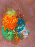 Abstract colorful painting Stock Images